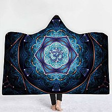 BEPM 3D Hooded Blanket Hood Blanket Throws For