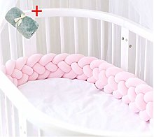 BERAGYUD Braided Crib Bumper Girl Boy, 2.2m 3m