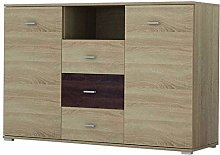 BERGAMO Chest of Drawers Storage Cabinet with 3