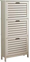 Bergen 3 Tier Shoe Cabinet - White