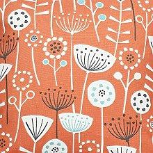 Bergen Floral Scandi Orange Fryetts Cotton Fabric