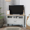 Bergen Grey Painted Oak Corner TV Unit