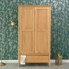 Bergen Oak Large 2 Door Wardrobe with Drawer