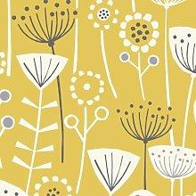 Bergen Ochre Yellow Scandinavian Curtain and
