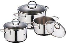 Bergner Classic Cookware Set, Silver, 6 Piece