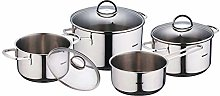 Bergner Classic Cookware Set with Lid, Silver, 7