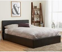 Berlin Fabric Ottoman Double Bed In Brown