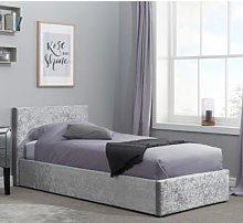 Berlin Fabric Ottoman Single Bed In Steel Crushed