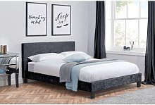Berlin Upholstered Bed Frame Hashtag Home Colour: