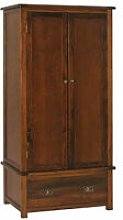 Bermont Dark Antiqued Softwood 2 Door, 1 Drawer