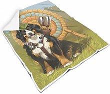Bernese Mountain Dog Square Throw Blanket Warm