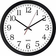 Bernhard Products Black Wall Clock, Silent Non