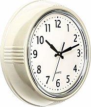 Bernhard Products Retro Wall Clock 9.5 Inch Cream