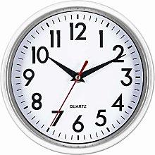 Bernhard Products White Wall Clock 8 Inch Retro