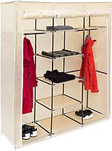 Berns 148cm Wide Portable Wardrobe Rebrilliant