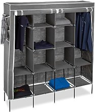 Berns 167cm Wide Portable Wardrobe Rebrilliant