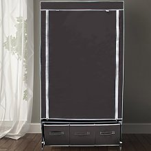 Berns 88cm Wide Portable Wardrobe Rebrilliant