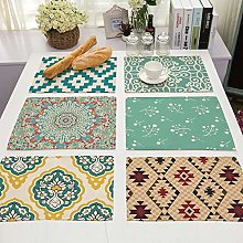 Berocia Placemats Sets of 6, Placemat Dining Table