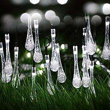 Berocia White Solar String Lights Outdoor Garden