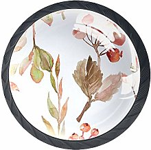 Berries and Leaves Round Knob Metal Cabinet