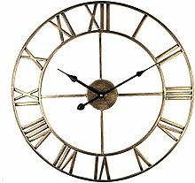 BerryChips Vintage Big Wall Clock with Roman