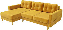 Bertram - Scandinavian Corner Sofa Bed - Honey -