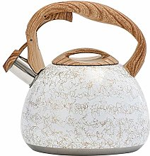 Beruyu Stove Top Whistling Kettle, Stainless Steel