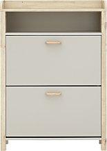 Berwick 1 Shelf Open Top Shoe Cabinet - Light Grey