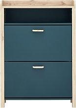 Berwick 1 Shelf Open Top Shoe Cabinet - Ocean Blue