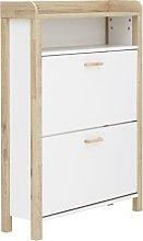 Berwick 1 Shelf Open Top Shoe Cabinet - White