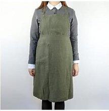 Berylune - Washed Linen Apron Khaki