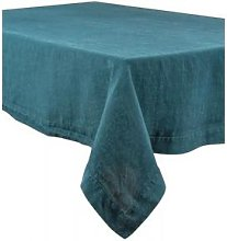 Berylune - Washed Linen Tablecloth Prussian Blue