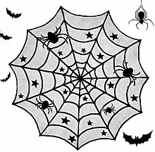 BESLIME Lace Spider Web Tablecloth, Halloween