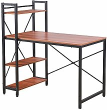Bespivet Computer Desk with Shelves Study Table