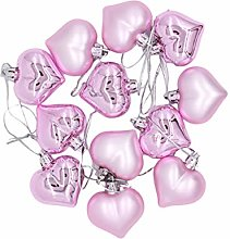 BESPORTBLE 12PCS Heart Shape Balls Christmas