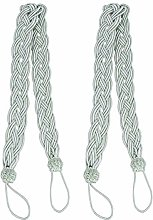 BESPORTBLE 2Pcs Braided Curtain Tiebacks Rope Belt