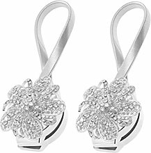 BESPORTBLE 2PCS Crystal Curtain Buckles, Magnetic