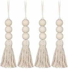 BESPORTBLE Cotton Tassel Beads Hanging Natural