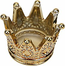 BESPORTBLE Crystal Golden Glass Crown Ashtray Cake