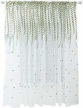 BESPORTBLE Embroidery Window Sheer Leave