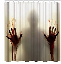 BESPORTBLE Halloween Shower Curtain Bloody