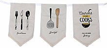 BESPORTBLE Pack of 3 Restaurant Hanging Curtains