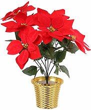 BESPORTBLE Poinsettias Artificial Christmas