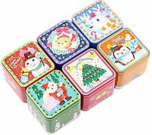 BESPORTBLE Square Tinplate Iron Box Adorable Candy