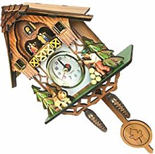 BESPORTBLE Wall Clock Traditional Forest Wood