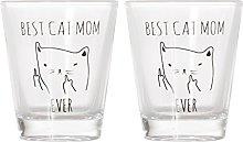 Best Cat Mom Ever - Funny Cat Gifts, Cat Shot