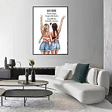 Best Friends Quote Canvas Painting Friendship Gift