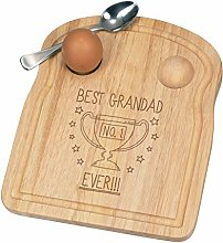 Best Grandad Ever No.1 Trophy Breakfast Dippy Egg