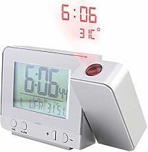 BEST UNION Led Projection Alarm Clock Digital