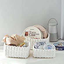 BESTEU Storage Baskets,Woven Recycle Paper Rope